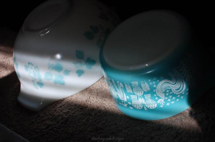 Pyrex Turquoise Butterprint